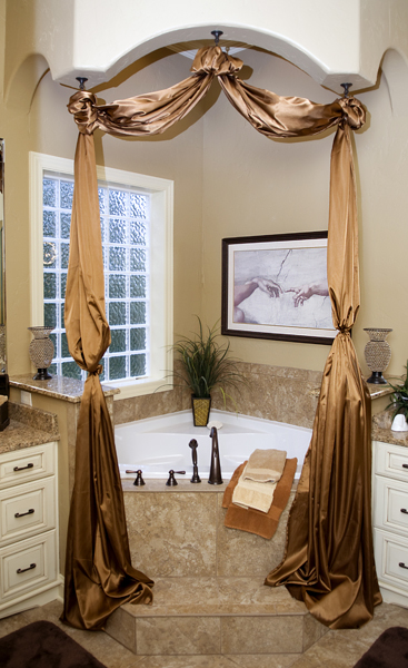A lavish bathroom.