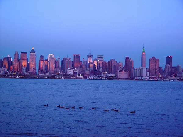new york city skyline at sunset. New York Skyline Sunset 2 by
