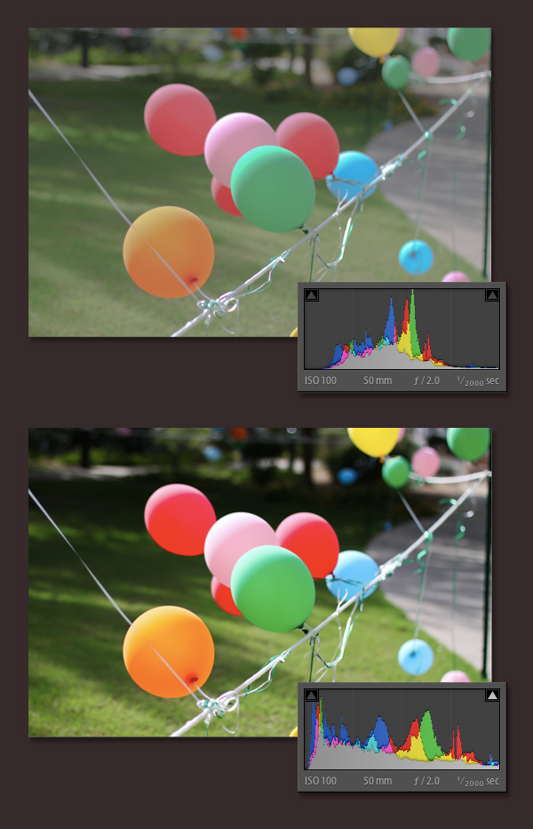 adobe lightroom histogram