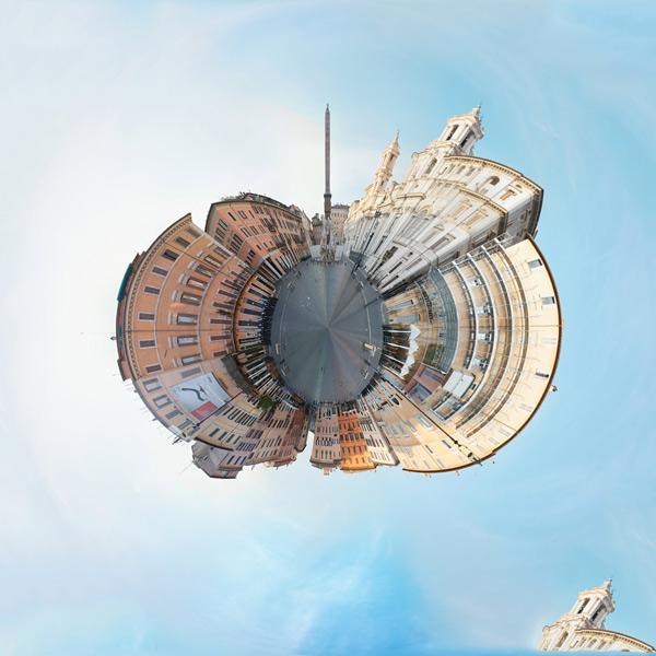 Сюрреалистичные Планеты из Панорамных Фотографий *