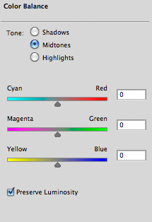 Photoshop's Color Balance